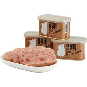 鲜肉原料,健康营养:猪掌门午餐肉