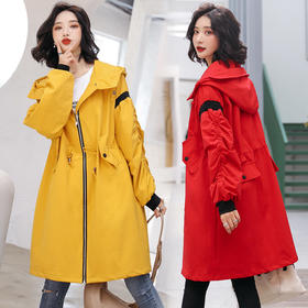【寒冰紫雨】2020春秋装新款 时尚风衣外套   AAA7893