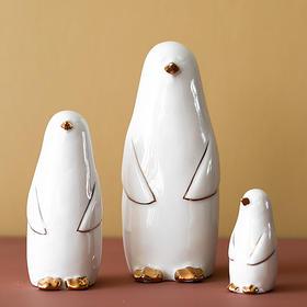 北欧创意陶瓷企鹅小摆件客厅桌面办公室酒柜电视柜家居饰品摆设