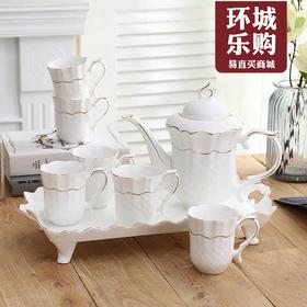陶瓷养生8件套水具-500015