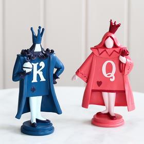 北欧创意国王王后树脂摆件客厅酒柜书桌家居饰品送女生礼物小摆设