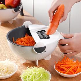 秒变大厨神器丨环保不锈钢多功能切菜器 切菜、沥水、装菜三合一! 9大功能,刨丝、片、花、磨蓉