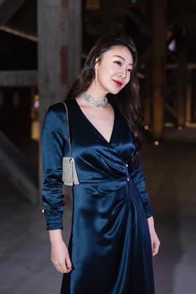 Marta Dress 丝麻缎连衣裙