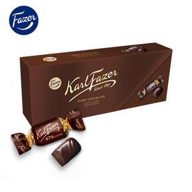 芬兰Fazer卡菲泽47%可可黑巧克力盒装270g零食糖伴手礼女生礼盒