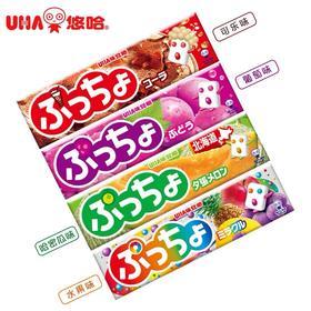 日本进口UHA悠哈普超味觉糖软糖50g/条  葡萄味/可乐味/哈密瓜/多果味