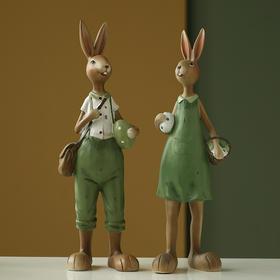 北欧创意可爱兔子摆件酒柜书桌装饰品摆设送女生礼物客厅卧室
