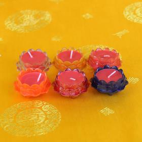 莲花杯蜡烛6粒套装