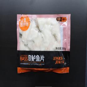 蹦蹦鱼免浆鲈鱼片200克*2袋(何氏水产)