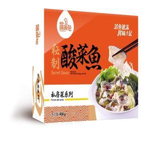 蹦蹦鱼秘制酸菜黑鱼片430克*2袋(何氏水产)