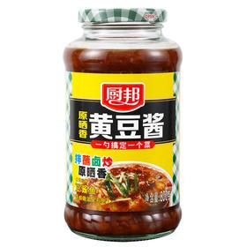 厨邦 黄豆酱 原晒香黄豆酱 广式调味酱 传统晒制 拌饭火锅蘸料 800g-866006