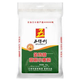 五得利 面粉 五星金特精小麦粉5kg 高筋面粉 馒头 饺子 面条 花卷拉面-872902
