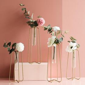 北欧ins风金色小清新花瓶干花摆件 客厅餐桌植物花插花桌面装饰品