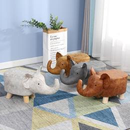 【可承重200公斤】特卖价39.9元 多功能创意时尚实木动物凳子 小牛凳大象凳河马凳换鞋凳小凳子 AL AAA