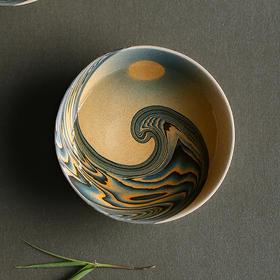 海上明月绞胎杯 ,茶杯