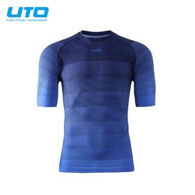 UTO悠途圆领跑步短袖男女快干运动衣马拉松透气t恤快干衣越野T恤