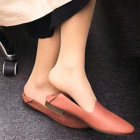 【为思礼】日本 SOFT CONTACT 舒适懒人鞋!56年日本匠心纯手工,坚持只做舒适女鞋!柔软轻巧,优雅显瘦,莫兰迪色系,诠释日系穿搭美学!穿拖两用,惬意百搭,牛津鞋底,耐磨不变色!