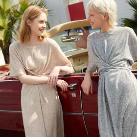GXG女装2020夏季新款针织连衣裙女中长款宽松收腰显瘦 MY2FA004C