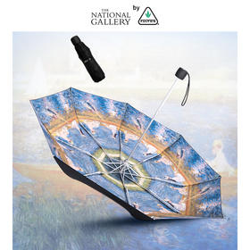 英国进口FULTON大英博物馆联名黑胶复刻UPF50+便携防晒伞