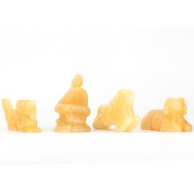 天然米黄玉十二生肖