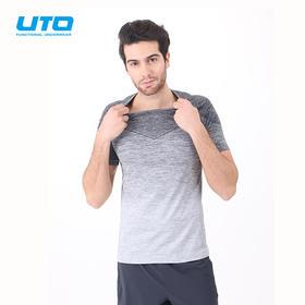 UTO悠途男女运动短袖圆领多功能透气快干衣