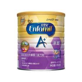 【亲舒】美赞臣亲舒安婴儿A+乳蛋白水解婴儿配方粉1段 850g/罐