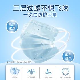 防飞沫一次性防护口罩 熔喷布加厚高密度过滤包邮