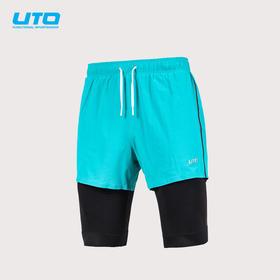 UTO马拉松跑步短裤健身二合一短裤2.0
