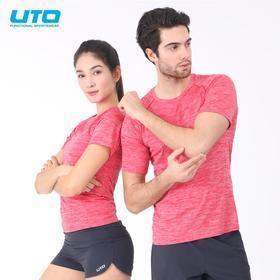 UTO男女运动短袖圆领多功能透气快干衣