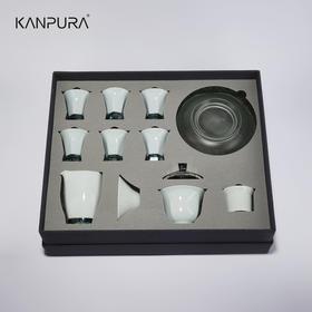 【春茶季】KANPURA 梦化青烟晶瓷茶具 高级套装