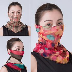 【清仓特价 不退不换】XNFS新款防晒时尚金丝面纱围脖TZF(买一送一)