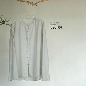 游园 · 棉麻盘扣圆领衫
