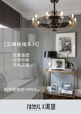 【渴望3团】 | 艾琳格瑞系列吊扇灯