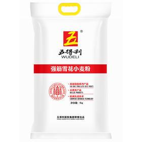 五得利面粉 强筋雪花小麦粉5kg 家用中饼面条水饺面包烘焙通用优质原料白面-872906