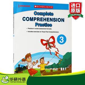 学乐美国小学英语阅读理解练习册3 英文原版 Scholastic Complete Comprehension Practice 小学生3年级 课外作业 英文版书籍