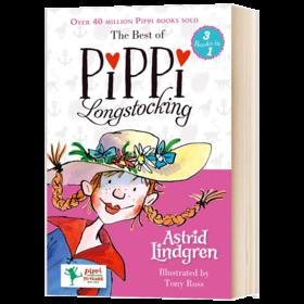 长袜子皮皮3个故事集 英文原版 The Best of Pippi Longstocking 插画版 小学生英语课外阅读 英文版 进口原版书籍