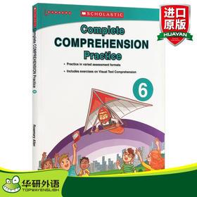 学乐美国小学英语阅读理解练习册6 英文原版 Scholastic Complete Comprehension Practice 小学生6年级 课外作业 英文版书籍