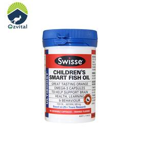 【母婴专场/保健药品】澳洲直邮 Swisse婴儿/儿童野生深海鱼油 90粒 甜橙味 1岁+