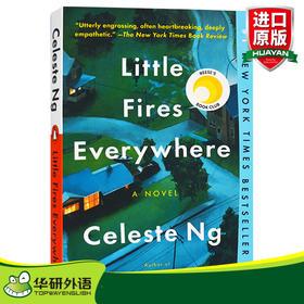 遍地小火苗 小小小小的火 英文原版小说 Little Fires Everywhere 英文版 无声告白作者伍绮诗新作 进口原版英语书