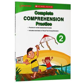 学乐美国小学英语阅读理解练习册2 英文原版 Scholastic Complete Comprehension Practice 小学生2年级 课外作业 英文版书籍