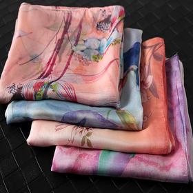 DX-150桑蚕丝时尚复古长款真丝丝巾TZF