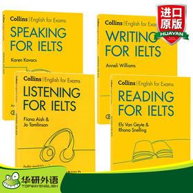 柯林斯雅思考试系列套装 英文原版教材 Collins English for IELTS 雅思英语阅读听力口语写作技巧4本 进口自学参考工具书