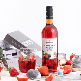 [德国凯特伦堡草莓果酒]低度甜果酒 德国top级果酒酒庄出品 750ml
