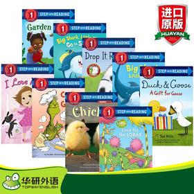 美国企鹅兰登经典分级读物兰登英语第D一阶段9册 英文原版绘本 Step into Reading 1 英文版童书 进口原版英语书籍