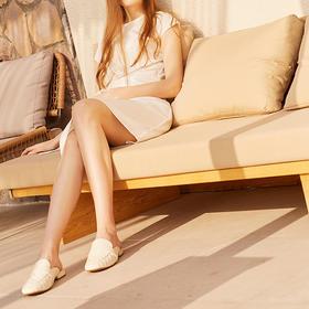 【为舒适而生】WAYNE FLEX 韦恩2020新款 包头半拖鞋 女士羊皮 棱形格穆勒拖 5044