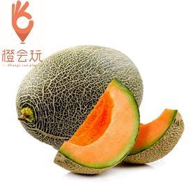 【整果】新疆吐鲁番晓蜜哈密瓜 一个约4斤