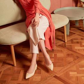 【为舒适而生】WAYNE FLEX 韦恩2020新款春夏季性感尖头低跟百搭休闲单鞋女小皮鞋2060
