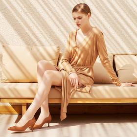 【为舒适而生】WAYNE FLEX 韦恩2020新款 豆沙色街拍爆款 女士高跟鞋 细跟2057