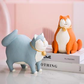 北欧招财莫兰迪猫咪小摆件创意日式家居办公室酒柜客厅装饰品摆设