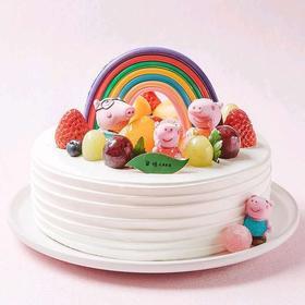 小猪佩奇丨朵恬CAKE乳脂生日蛋糕丨新鲜现做丨奶香更浓郁