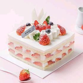 心享草莓丨朵恬CAKE乳脂生日蛋糕丨新鲜现做丨奶香更浓郁